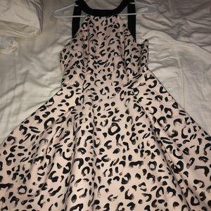 cheetah mini skater dress